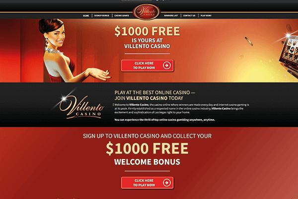 Villento casino welcome bonus