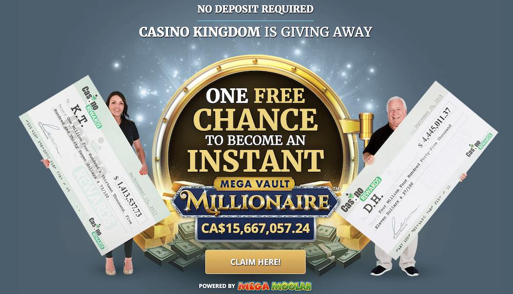 Casino Kingdom no deposit bonus